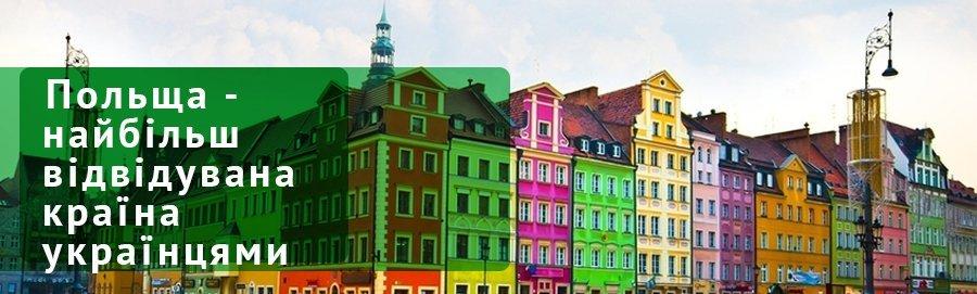 Польща - найбільш відвідувана країна українцями